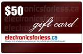 electronicsforless.ca Gift Card : $50.00 Value