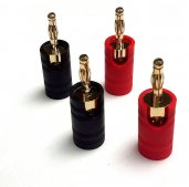 Maestro Gold Plated Metal Banana Plugs (4 Pack)