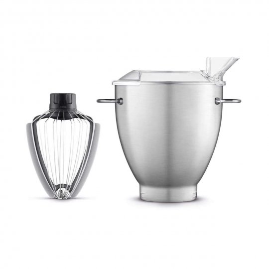 Breville BBA600XL 3 Quart Mixing Bowl with Scraper Whisk SILVER