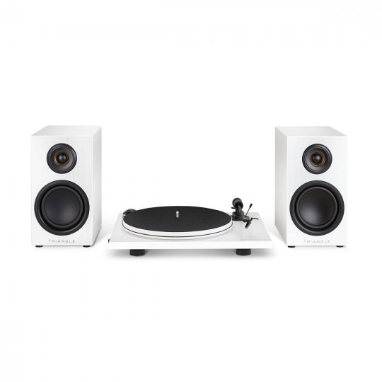 Triangle/Pro-Ject Turntable & Powered Speakers Bundle ELARA LN01A WHITE